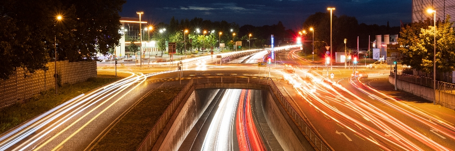 Trailing lights at an intersection, highlighting the effects to long exposure photography